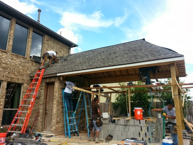 When Youu0027re Looking For A New Roof Addition, Pergola, Arbor, Gazebo, Outdoor  Kitchen Or Pavers For Your Driveway Or Patio Call Infinite Construction  Houston ...