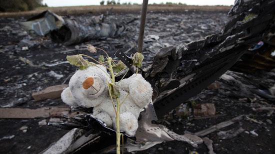 Gambar di tempat MH17 ditembak jatuh