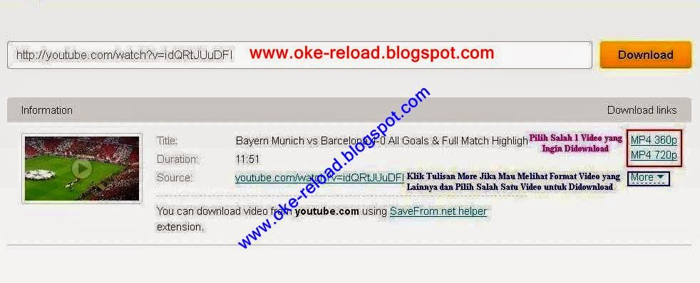 Download Video di Youtube tanpa Software IDM dan Keepvid