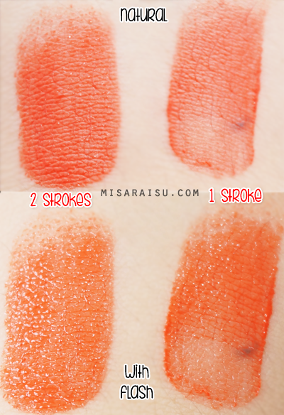 aritaum water sliding tint lips orange swatch