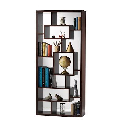 Sydney Room Divider 6 Shelf Bookcase Walnut