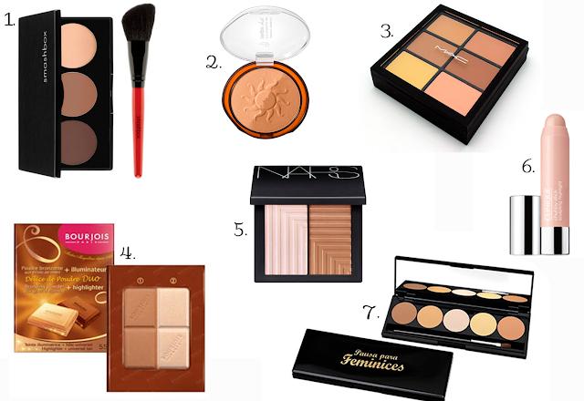 contorno, facial, produtos, kim kardashian, afinar, rosto, maquiagem