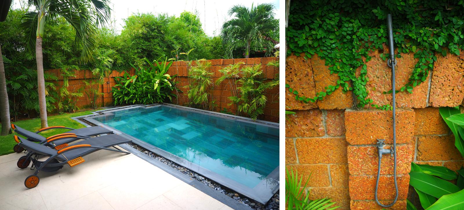 Fusion Maia Resort Villa Private Backyard Pool Shower