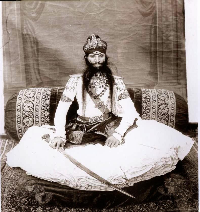 Kijk een maharaja illusies en ontdekkingen van een welwillend mens - Westerse fauteuil ...