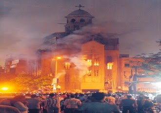 Baghdad Church burnt by Muslims