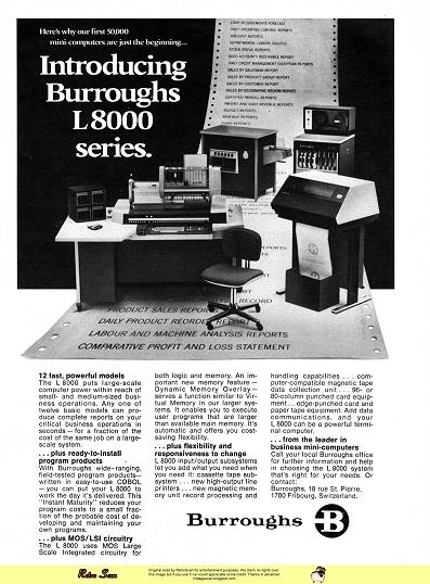 Burroughs L8000 (1973)