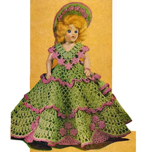 Crochet Pattern Doll Dress : Vintage Knit Crochet Pattern Shop: Crochet Doll Dresses ...