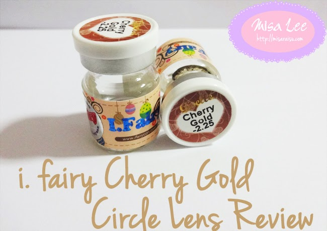 i.fairy cherry gold circle lens
