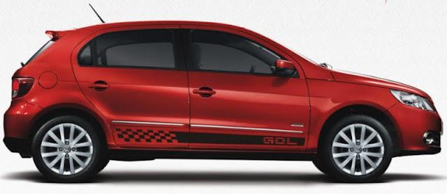 Faixa lateral adesiva modelo Gol tuning para VW Gol G5 G6