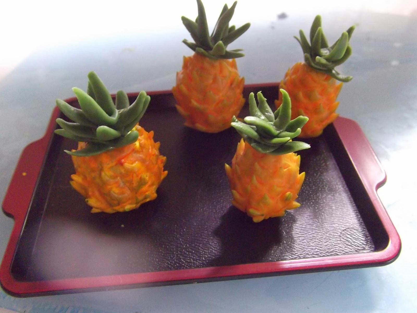 Dollhouse miniature handmade half-cut durian