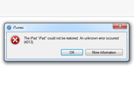 Image result for itunes restore error 4013