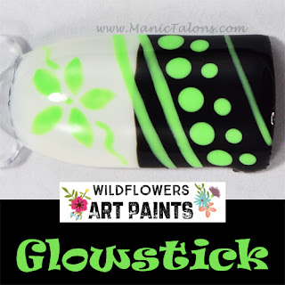 Wildflowers Nail Art Paint Glowstick