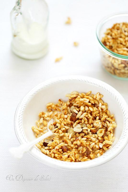 Granola au riz soufflé (sans gluten)