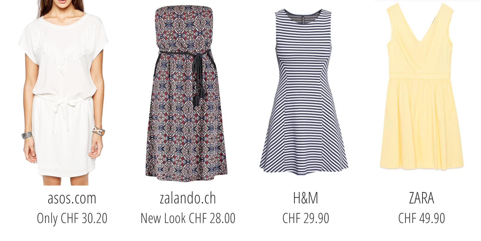 Post n°25 fashion : 8 robes de printemps à petit prix blog suisse