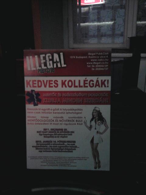 Illegal Pub, kocsma, Budapest, Kazinczy utca