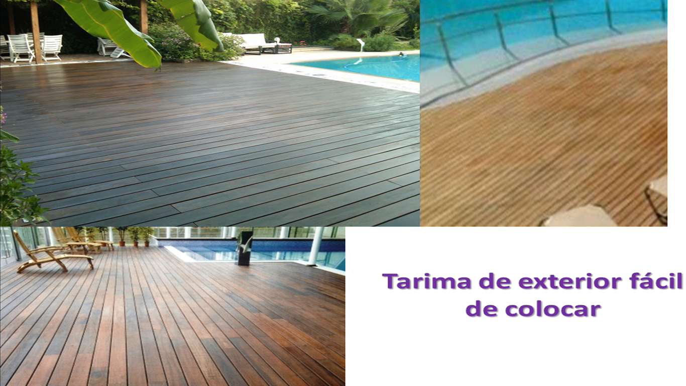 Pintura y madera c mo colocar suelo laminado exterior for Tarima de madera exterior
