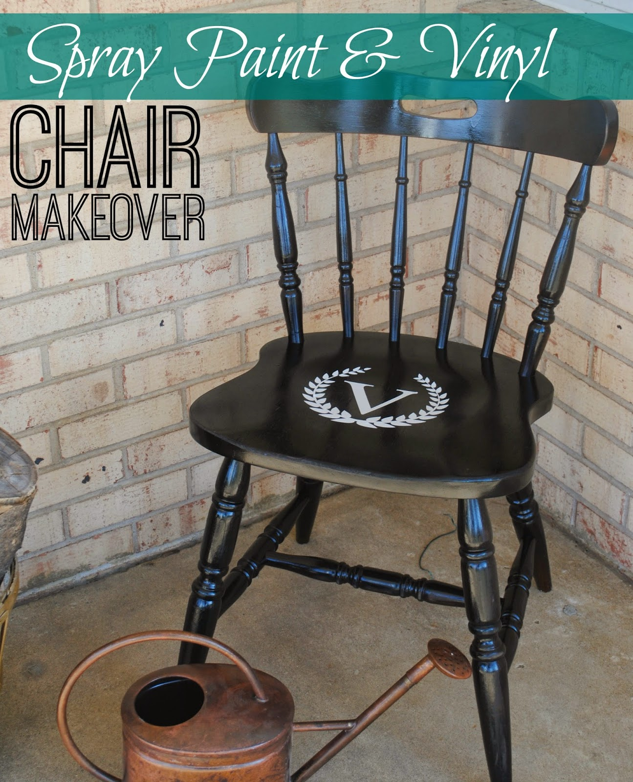 Painted Wooden Chairs vinyl and spray paint wood chair makeover - silhouette school