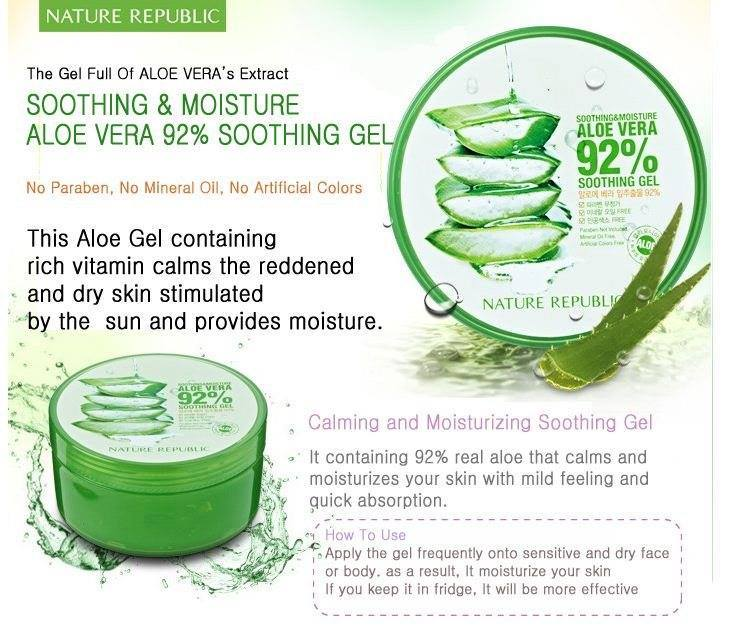 aloe vera 92 soothing gel naa green trading