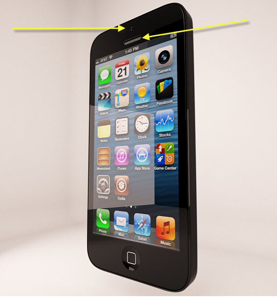 Render de IPhone5 en 3ds max.