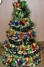 Mini Árvore de Natal com Chocolates