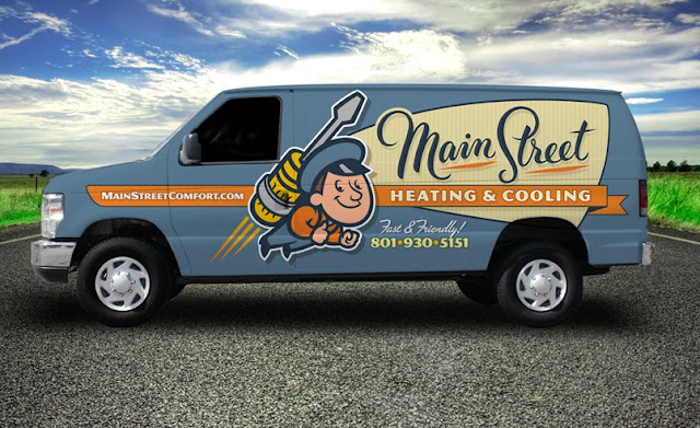 truck wrap example for hvac contractor