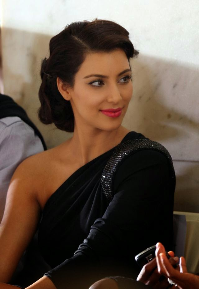 Funukof Kim Kardashian Hairstyles Updos