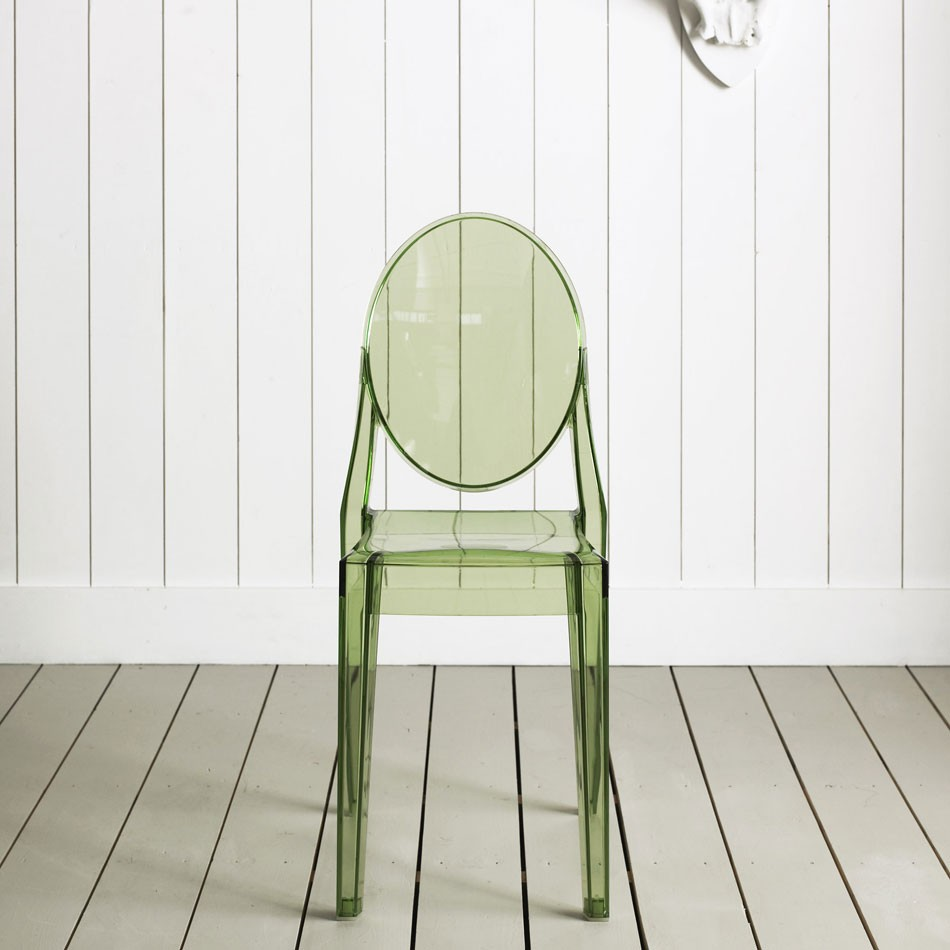 Charmant Kartell Victoria Ghost Chair In Transparent Green By Philippe Starck (image  Credit Graham U0026 Green)