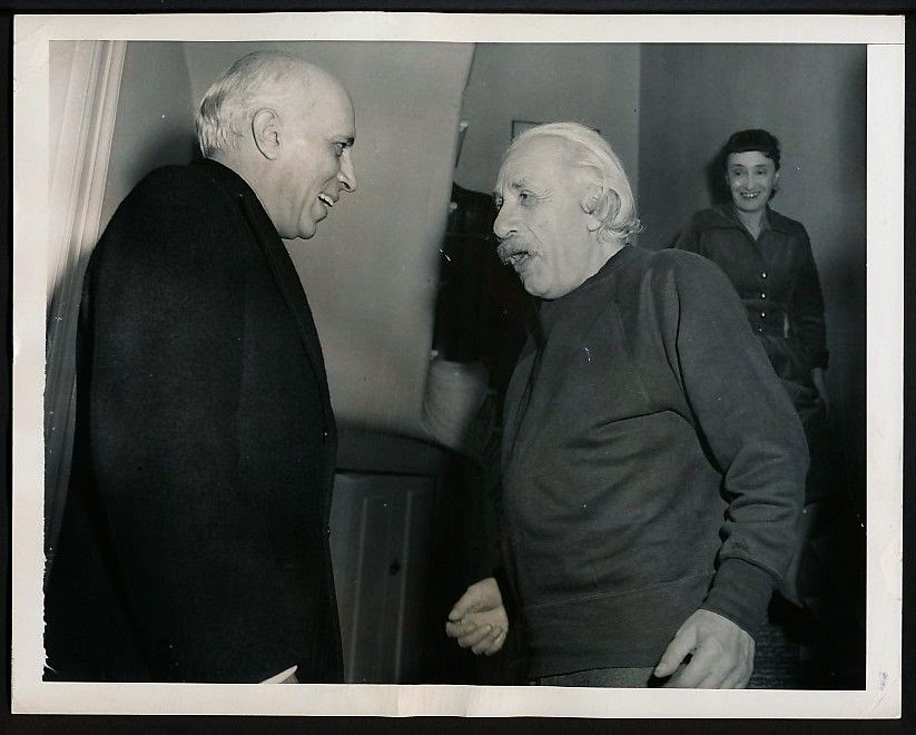 Indian Prime Minister Jawaharlal Nehru with Scientist Albert Einstein - 1949