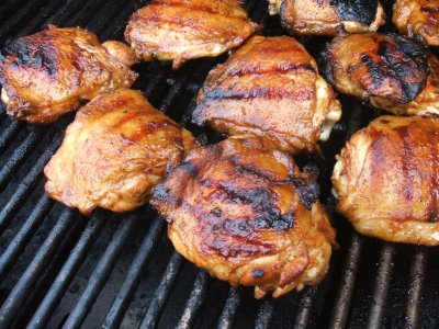 Grilled Chicken Legs and Thighs