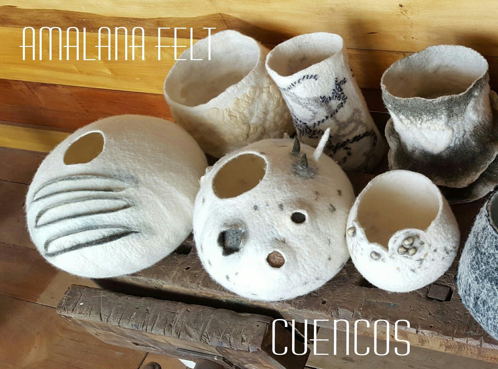 Amalana felt fieltro artesanal talleres de fieltro for Objetos hechos con marmol
