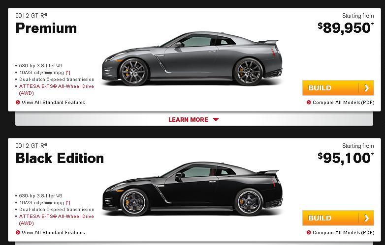 2010 Nissan Gtr Black Edition. The Black Edition Nissan GT-R