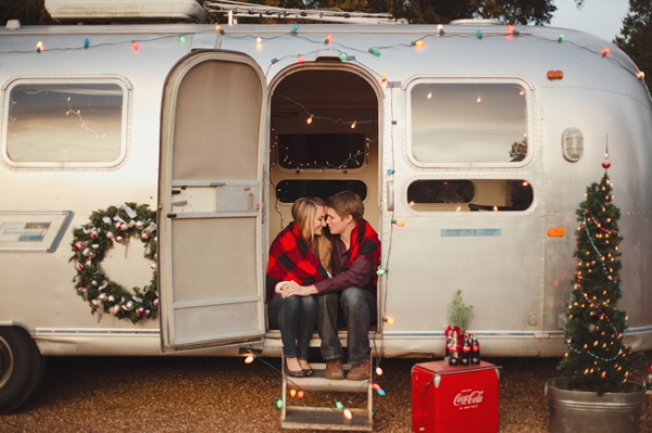 Love of fair winter magic for Airstream christmas decoration