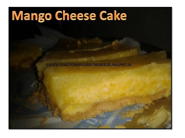 Mango Cheesecake | Eggless | No Bake