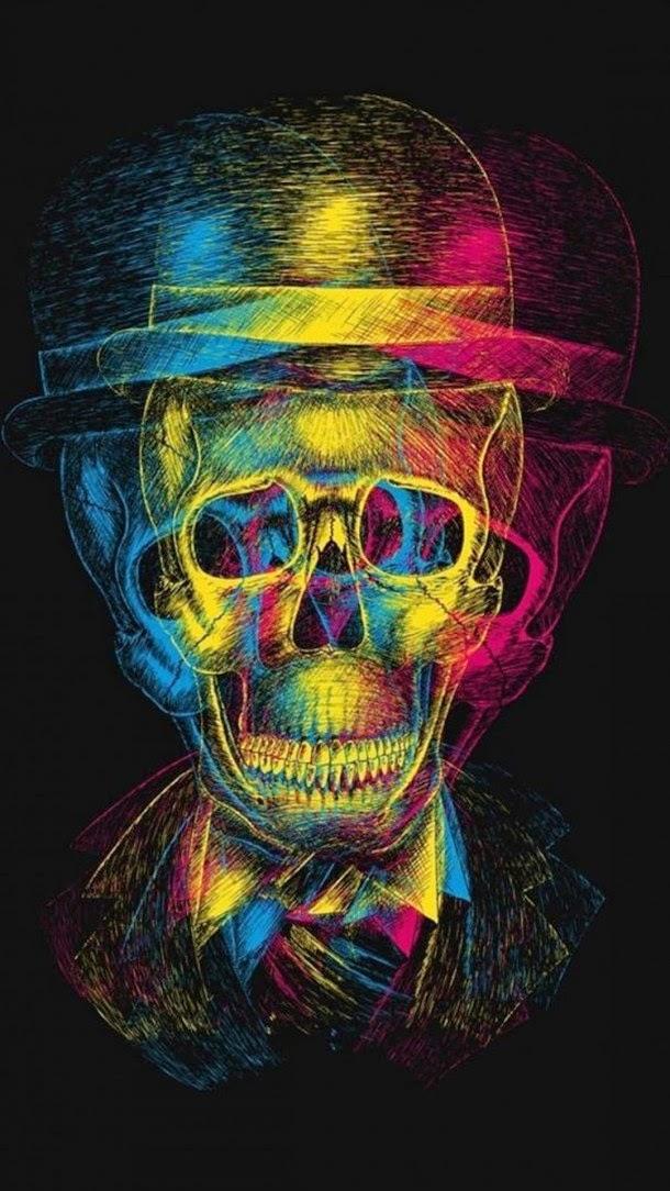 iPhone 6 Plus Skull Background