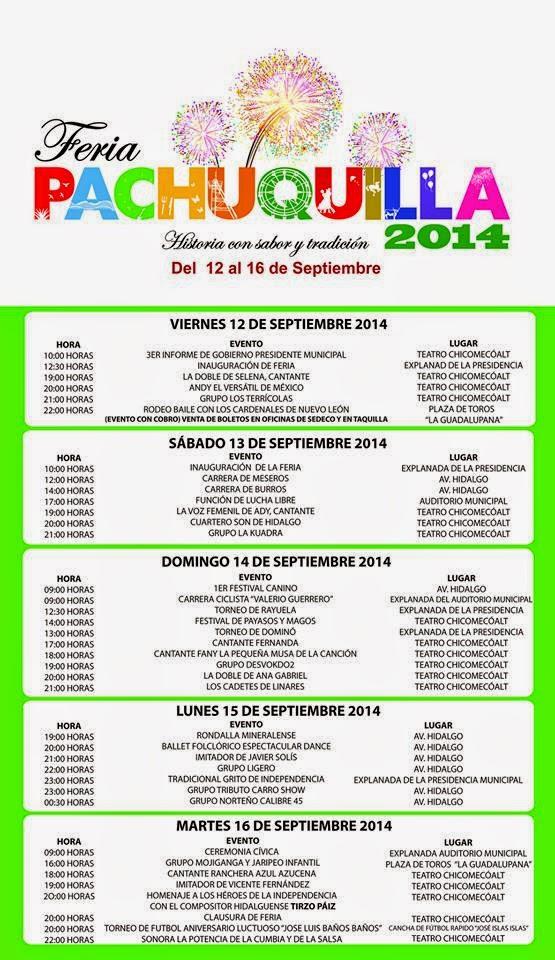 programa feria pachuquilla 2014 fiestas patrias