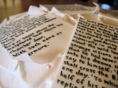 Classic Book Pages Cake - Close-Up View of Pages 1