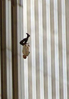 Man Falling off World Trade Center Tower September 11 Terror Attacks