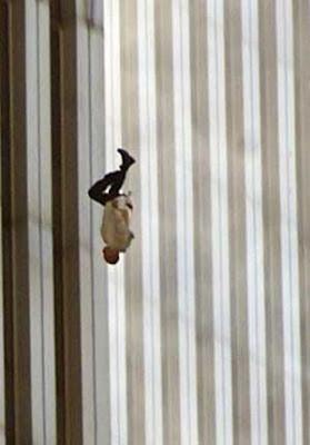 Man Falling off World Trade Center Tower September 11 Terror Attacks