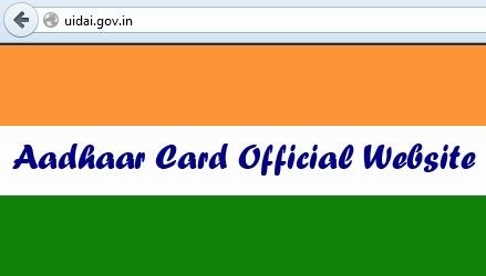 Aadhaar Card Official Website