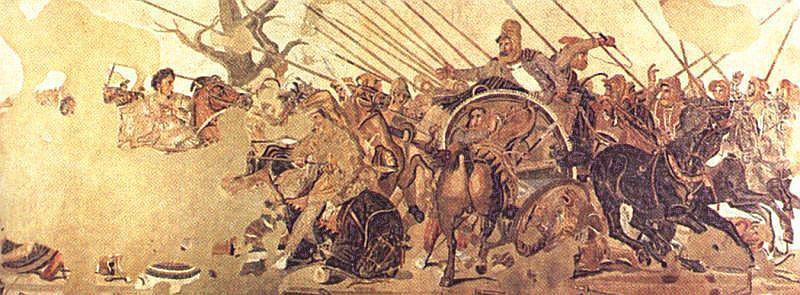 Las falanges de Alejandro Magno en la batalla de Issos
