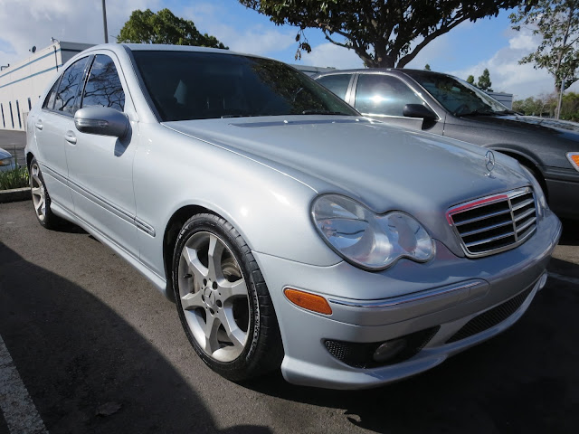 Mercedes Benz paint color change from grey to silver at Almost Everything Auto Body