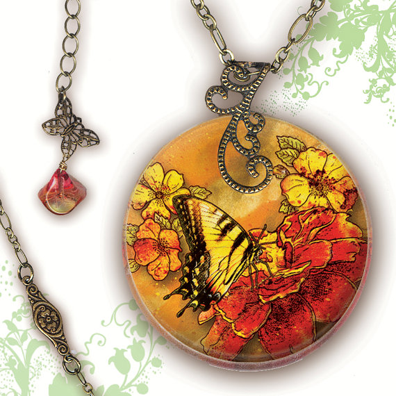 graphic design decoupage jewelry