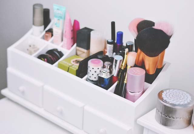 Make up organised in a dressing table organiser