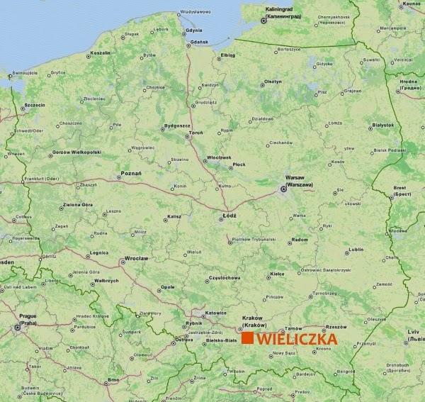 Wieliczka Mapa