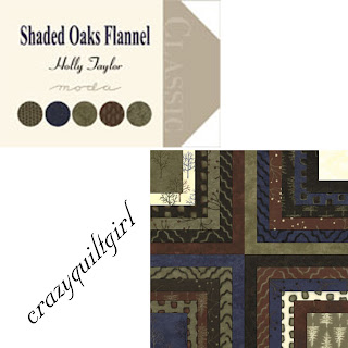 Moda SHADED OAKS FLANNEL Quilt Fabric by Holly Taylor