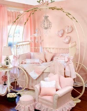 Habitaciones estilo princesa para beb s ideas para - Habitaciones bebe pequenas ...