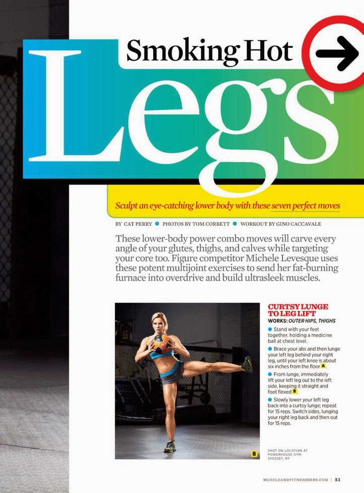 Magazine Photoshoot : Michele Levesque Photoshoot for Muscle & Fitness Hers November/December 2013