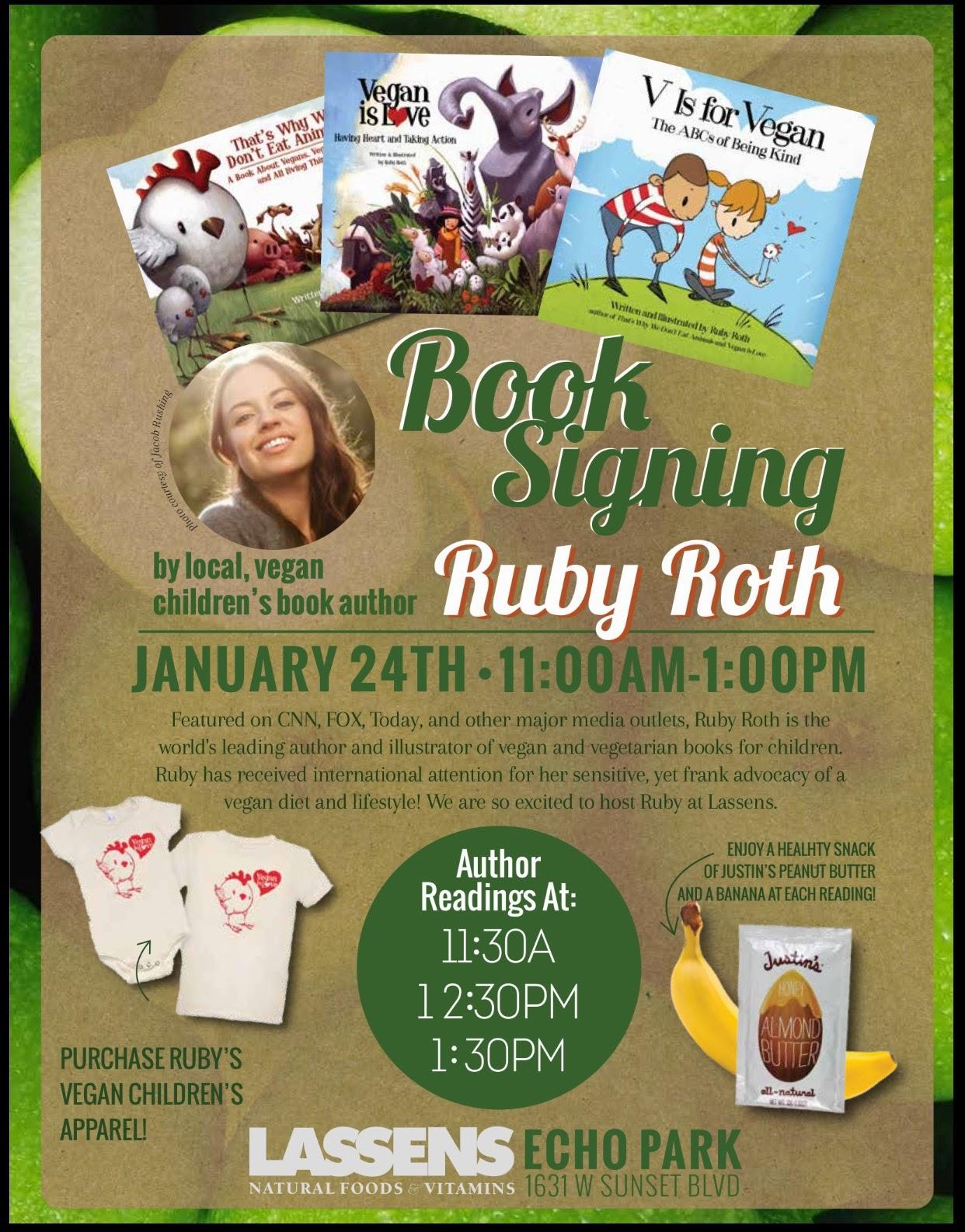 Ruby+Roth, Thats+why+we+don't+each+animals, vegan+kids, Echo+Park+Lassens