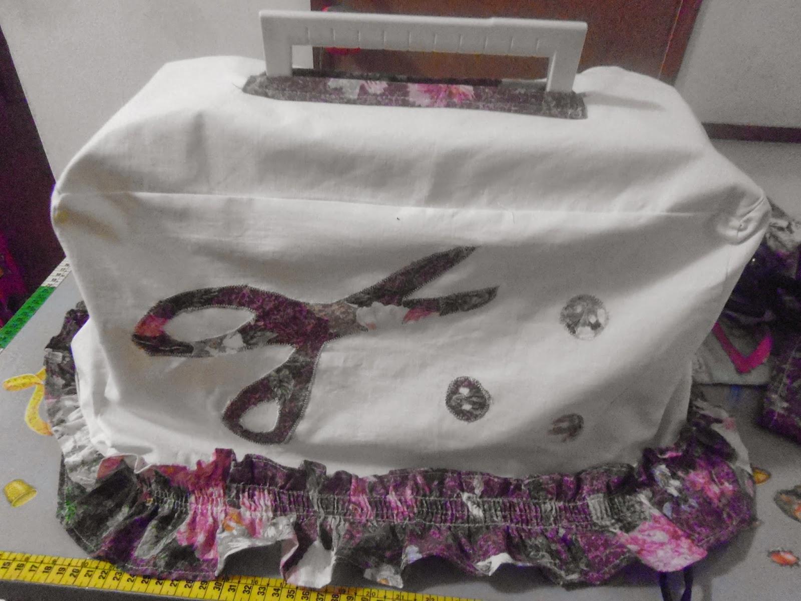 dire fare creare: IL MIO PRIMO COPRI-MACCHINA da cucire...