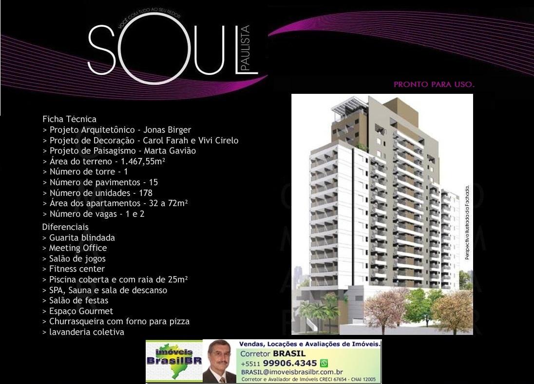 SOUL PAULISTA Apartamentos studio e 1 dormitórios, 32 e 42m² na Bela Vista-São Paulo-SP-Brasil